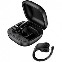 Наушники беспроводные Bluetooth USAMS US-YI001 в кейсе, черные