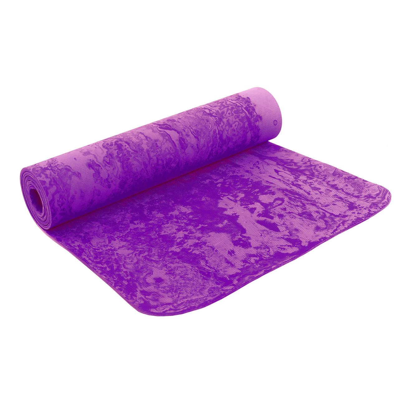 Коврик для фитнеса и йоги PER 8мм SP-Planeta FI-4936 (Фиолетовый)