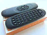 Пульт аэроМышь air mouse C120 сКлавиатурой дляАндроид приставкиСмарт тв гироскопический smartTv мышкаГолосовой