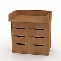 Комод Пеленальный в спальню на 3 ящика с пеленатором, комоды для вещей в детскую 85х51х93 см ольха Компанит