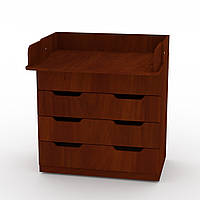 Комод Пеленальный в спальню на 3 ящика с пеленатором, комоды для вещей в детскую 85х51х93 см яблоня Компанит