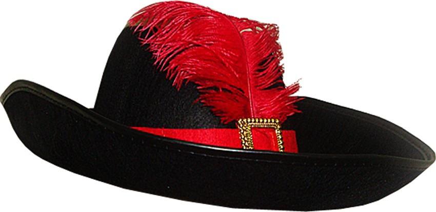 Шляпа Мушкетера с пером черная