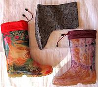 Сапоги женские силикон (обшитые, утепленные)  36-41