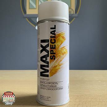 Краска (эмаль) термостойкая до 650°C Maxi Special, 400 мл Аэрозоль Белый