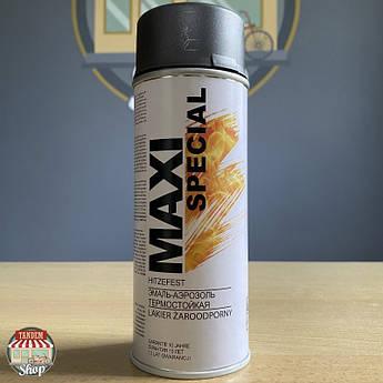 Краска (эмаль) термостойкая до 650°C Maxi Special, 400 мл Аэрозоль Антрацит