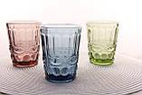 """Стеклянные стаканы набор 6шт, 250мл """"Винтаж"""" зеленые, фото 7"""