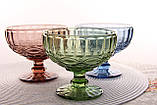 "Салатник стеклянный 350мл, 10*12см ""Винтаж"" синий, фото 9"