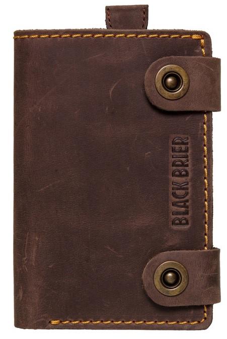 Мужской кожаное портмоне Black Brier П-18-33 коричневый