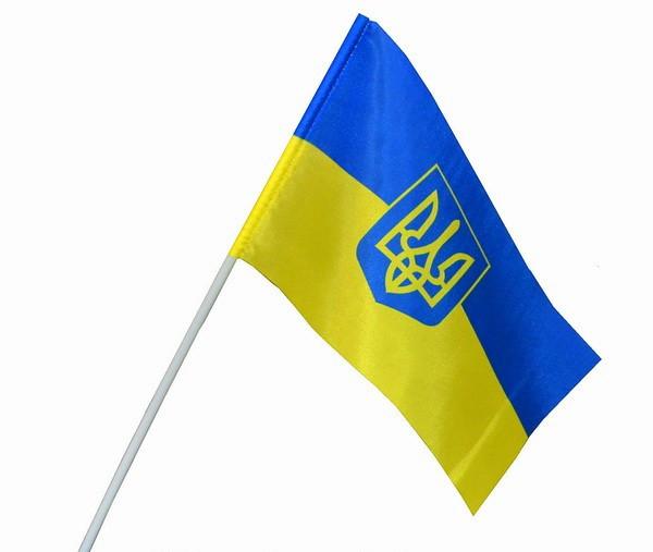 Флажок Украины на палочке