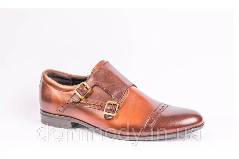 Туфли мужские из кожи коричневого цвета Hugh