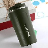 Термокружка 510ML из нержавеющей стали кружка термос для кофе чая в автомобиль и на природу BN-129 зеленый