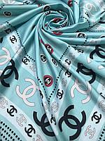 Шелковый брендовый платок мятный - купить на Kosinka.net