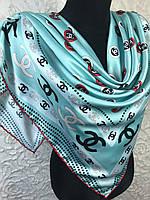Шелковый брендовый платок мятный, фото 1