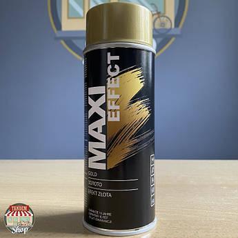 Краска (эмаль) декоративная с эффектом золота Maxi Effect, 400 мл Аэрозоль