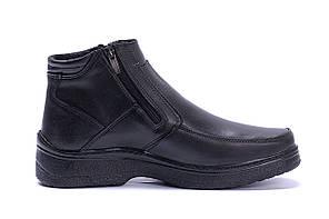 Чоловічі шкіряні зимові черевики Matador clasic два замку