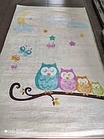 Коврик в детскую комнату, детский ковер 100*160 см, Совы, фото 1