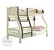 Двухъярусная кровать Светлана 80/120*200 с ящиками, из натурального дерева (детская, трансформер), фото 3