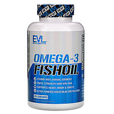 EVLution Nutrition, Риб'ячий жир з омега-3 кислотами, 120 м'яких желатинових капсул