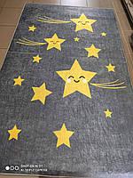Коврик в детскую комнату, детский ковер 100*160 см, Звезды