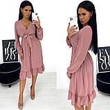 Платье миди из ангоры с открытым декольте 24-1381, фото 7