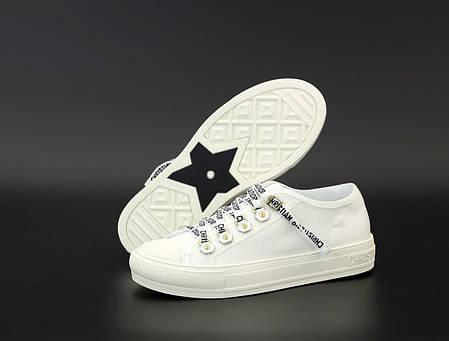 Женские кеды кроссовки Dior Sneakers. White ТОП реплика ААА класса., фото 2