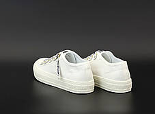 Женские кеды кроссовки Dior Sneakers. White ТОП реплика ААА класса., фото 3