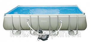 Каркасный Бассейн Intex 54982/28352 (549x274x132cм) + Песочный Насос Intex 56686 в коплекте, фото 2
