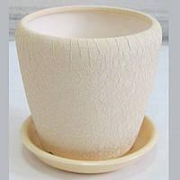 Горшок керамический для пересадки цветов Грация №3 шелк беж беж