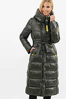 Черная длинная зимняя куртка