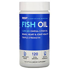 RSP Nutrition, Риб'ячий жир, 120 м'яких таблеток