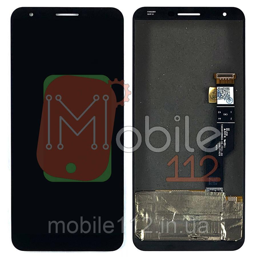 Екран (дисплей) Google Pixel 3A XL G020C G020G G020F + тачскрін чорний