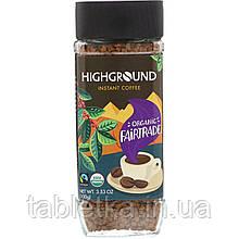 Highground Coffee, Органический растворимый кофе, средний, 100 г