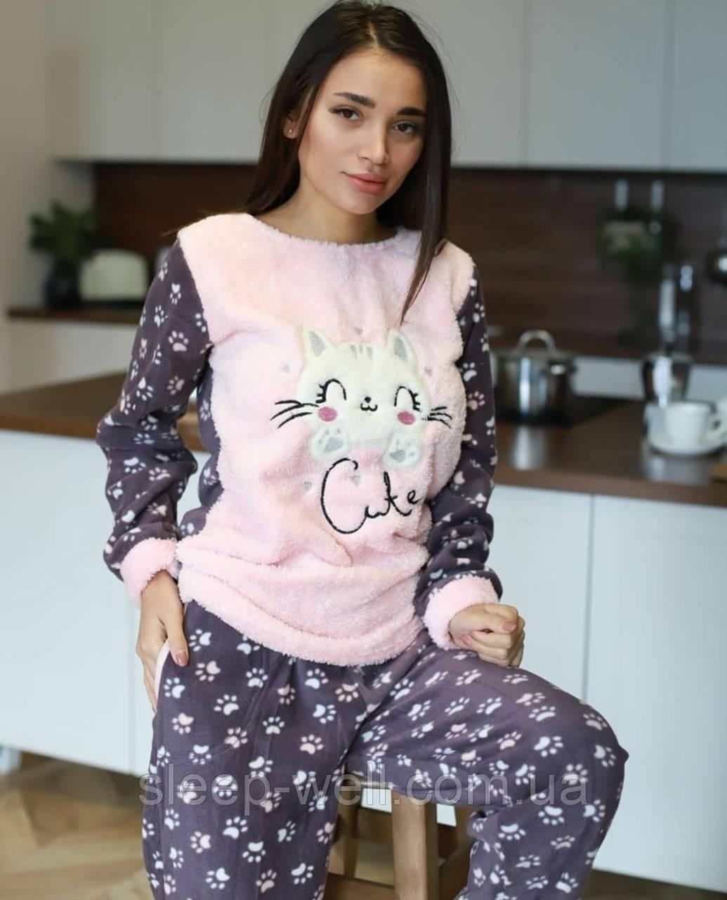 Пижама молодёжная флисовая