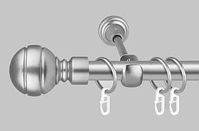 Карниз для штор однорядный металлический 19 мм серебристый