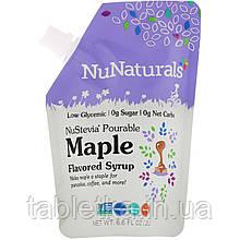 NuNaturals, NuStevia, Pourable Maple Flavor Syrup, 6.6 fl oz (.2 l)