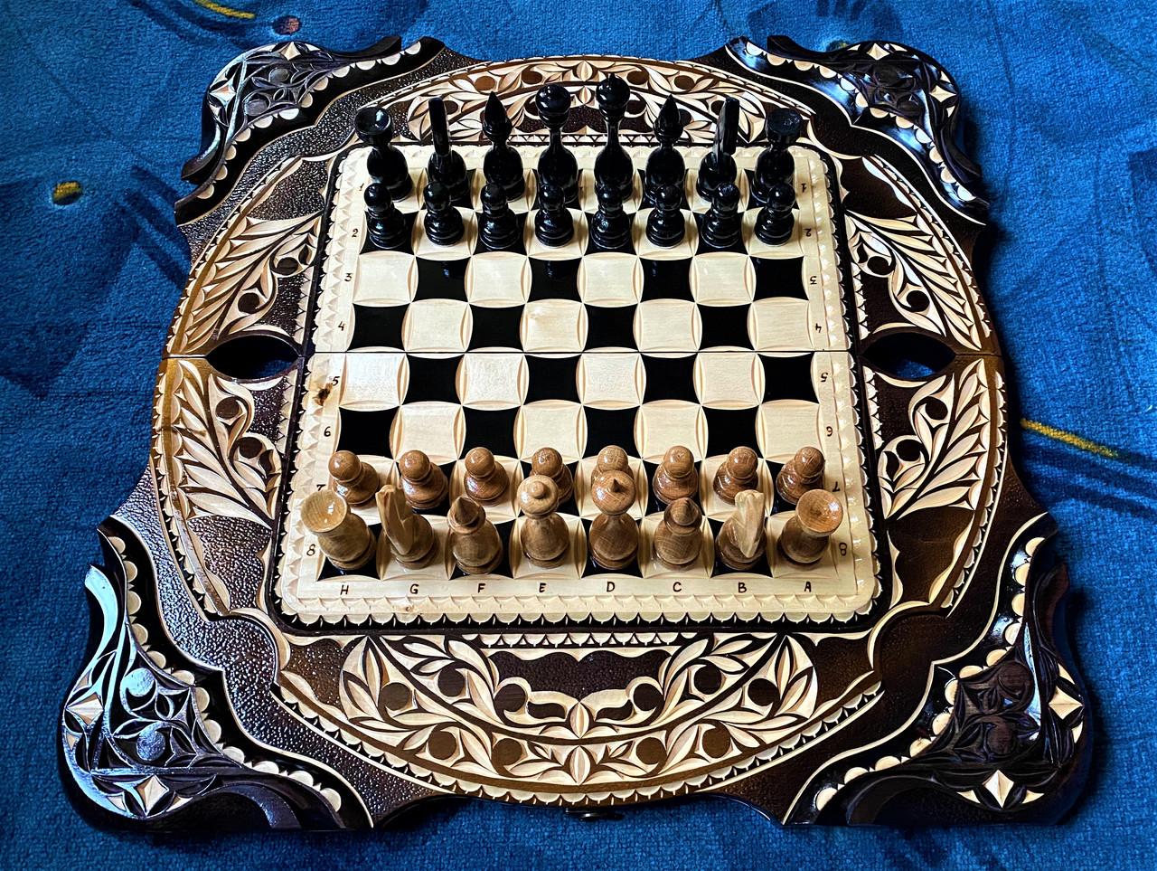 """Шахи-нарди-шашки комплект 3 в 1 """" Скорпіон """""""