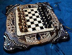 """Шахи-нарди-шашки комплект 3 в 1 """" Скорпіон """", фото 3"""