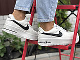 Кросівки жіночі Nike Air Force білі з чорним, фото 4