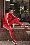 Мужской зимний теплый спортивный костюм Adidas на флисе - DONE, фото 4