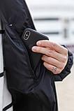 Мужская зимняя куртка-пуховик черная с серым, фото 5