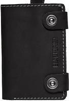 Черный мужской кожаный чехол-портмоне для телефона iPhone 6 Black Brier П-18-35