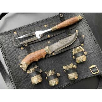 Решетка Кабан с ножом , вилкой и чарками, фото 2