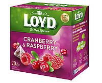 Чай фруктовый Loyd Cranberry & Raspberry клюква и малина 20 пирамидок 40 г Польша