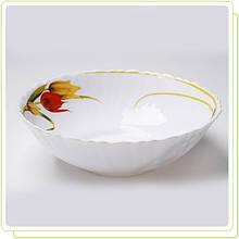 """Миска салатник жаропрочное стекло 22,5см """" Тюльпан """" (только по 6 штук)"""