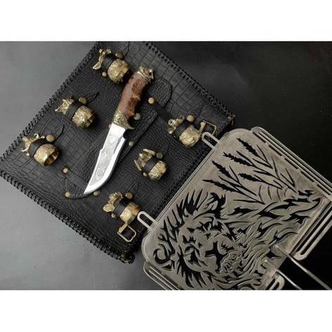 Решітка Лев з ножем і чарками, фото 2