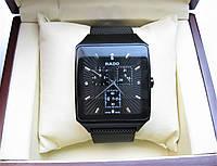 Годинник RADO JUBILE CERAMICA 36x48mm Black/Silver. Replica AAA, фото 1
