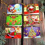 №1  Мини открытка  для подписи подарков с глиттером  МИКС расцветок70*50 мм (192 шт в упаковке), фото 3