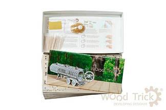 Цистерна (дополнение к Биг Риг) Wood Trick (200 деталей) - механический деревянный 3D пазл конструктор, фото 2