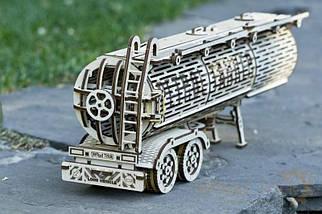 Цистерна (дополнение к Биг Риг) Wood Trick (200 деталей) - механический деревянный 3D пазл конструктор, фото 3