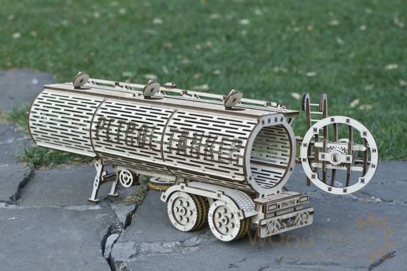 Цистерна (дополнение к Биг Риг) Wood Trick (200 деталей) - механический деревянный 3D пазл конструктор